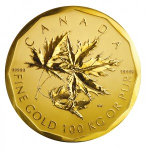 Guiness Book of Records Largest Gold coin